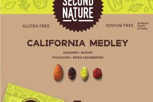 ALMONDS, RAISINS, PISTACHIOS, DRIED CRANBERRIES CALIFORNIA MEDLEY