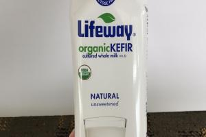 Natural Unsweetened Organic Kefir Cultured Whole Milk Vit. D