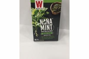 MINT GREEN TEA BAGS