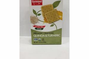 QUINOA & TURMERIC ORGANIC CRACKERS