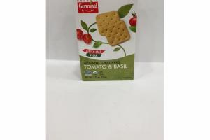 TOMATO & BASIL ORGANIC CRACKERS