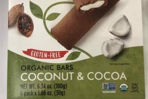 GLUTEN-FREE COCONUT & COCOA ORGANIC BARS