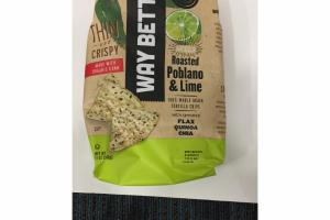 SPICY ROASTED POBLANO & LIME 100% WHOLE GRAIN TORTILLA CHIPS