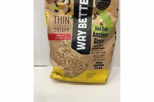 THIN AND CRISPY SEA SALT ANCIENT GRAINS WITH A HINT OF CRACKED PEPPER