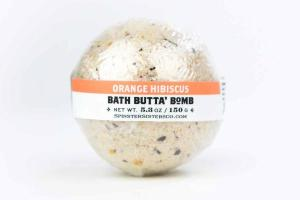 BATH BUTTA' BOMB, ORANGE HIBISCUS