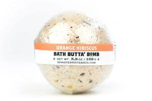 BATH BUTTA' BOMB, ORANGE HIBISCUS