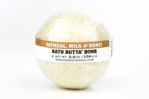 BATH BUTTA' BOMB, OATMEAL MILK AND HONEY