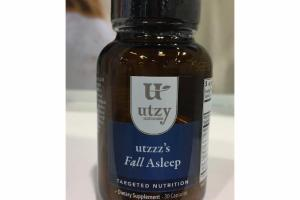UTZZZ'A FALL ASLEEP TARGETED NUTRITION CAPSULES DIETARY SUPPLEMENT