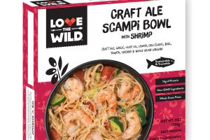 Craft Ale Scampi Bowl With Shrimp