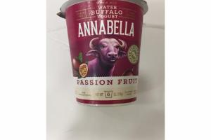 WHOLE MILK WATER BUFFALO YOGURT PASSION FRUIT