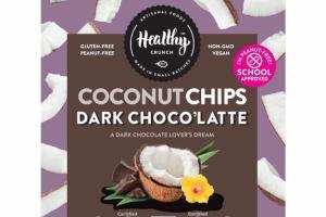 DARK CHOCO'LATTE A DARK CHOCOLATE LOVER'S DREAM COCONUT CHIPS