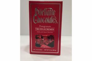 POMEGRANATE TRUFFLECREMES MILK WITH DARK CHOCOLATE
