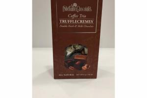 ALL NATURAL COFFEE TRIO DOUBLE DARK & MILK CHOCOLATE