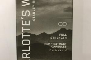 Hemp Extract Capsules Dietary Supplement