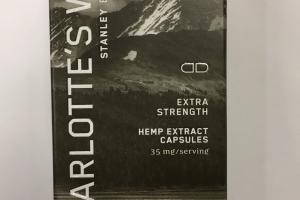 Extra Strength Hemp Extract Capsules Dietary Supplement