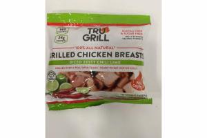 DICED ZESTY CHILI LIME 100% ALL NATURAL FIRE GRILLED CHICKEN BREASTS