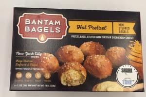 Hot Pretzel Mini Stuffed Bagels