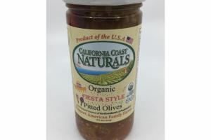 ORGANIC FIESTA & STYLE PITTED OLIVES
