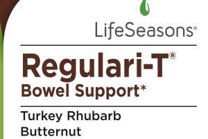 Regulari-t Bowel Support Dietary Supplement Vegetarian Capsules