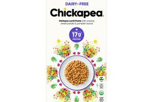 CHICKPEA LENTIL PASTA WITH CREAMY SWEET POTATO & PUMPKIN SAUCE