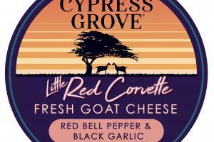 RED BELL PEPPER & BLACK GARLIC FRESH GOAT CHEESE