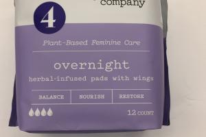 Herbal-infused Pads With Wings