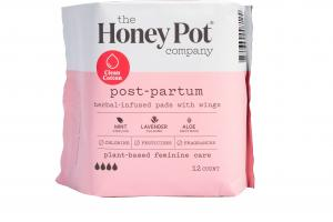 PLANT-BASED FEMININE CARE POST-PARTUM HERBAL-INFUSED PADS WITH WINGS