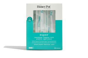 UNSCENTED TAMPONS WITH PLASTIC APPLICATOR