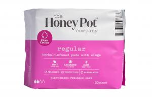PLANT-BASED FEMININE CARE REGULAR HERBAL-INFUSED PADS WITH WINGS