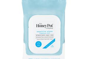 PLANT-BASED FEMININE BODY + FACE CARE SENSITIVE WIPES