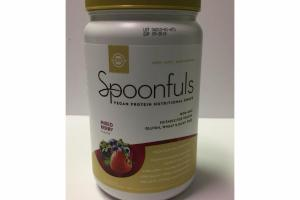 MIXED BERRY SPOONFULS VEGAN PROTEIN NUTRITIONAL SHAKE DIETARY SUPPLEMENT