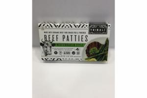 MEDITERRANEAN STYLE BEEF PATTIES