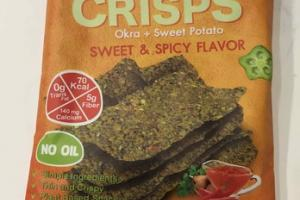 SWEET & SPICY OKRA + SWEET POTATO VEGGIE CRISPS