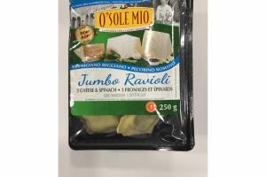 3 CHEESE & SPINACH JUMBO RAVIOLI