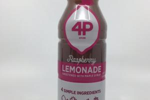 Raspberry Lemonade Sweetened With Maple Syrup