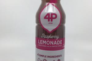 Raspberry Lemonade Sweetened With Maple Syrup