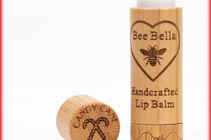 Handcrafted Candy Cane Lip Balm