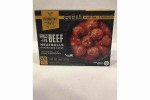 GRASS FED BEEF MEATBALLS IN MARINARA SAUCE
