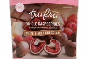 WHITE & MILK CHOCOLATE WHOLE RASPBERRIES
