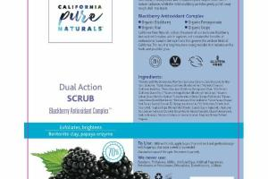 BLACKBERRY ANTIOXIDANT COMPLEX DUAL ACTION SCRUB, BENTONITE CLAY, PAPAYA ENZYME