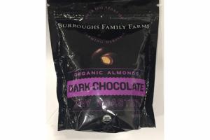 DARK CHOCOLATE DRY ROASTED ORGANIC ALMONDS