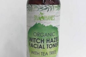 ORGANIC WITCH HAZEL FACIAL TONER WITH TEA TREE