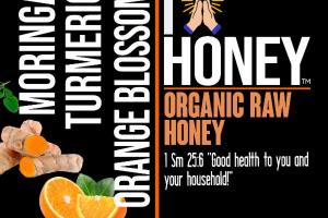 MORINGA TURMERIC ORANGE BLOSSOM ORGANIC RAW HONEY