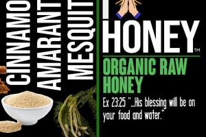 CINNAMON AMARANTH MESQUITE ORGANIC RAW HONEY