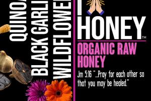 QUINOA BLACK GARLIC WILDFLOWER ORGANIC RAW HONEY