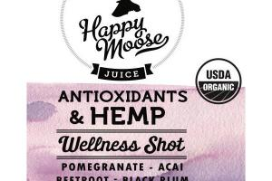 ANTIOXIDANTS & HEMP OIL, POMEGRANATE, ACAI, BEETROOT, BLACK PLUM, LEMON JUICE WELLNESS SHOT