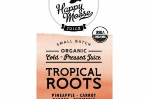 TROPICAL ROOTS PINEAPPLE, CARROT, GINGER, TURMERIC ORGANIC COLD - PRESSED JUICE
