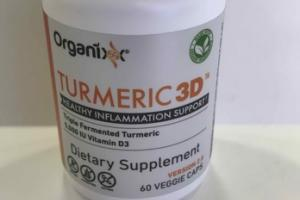 TURMERIC 3D HEALTHY INFLAMMATION SUPPORT DIETARY SUPPLEMENT VEGGIE CAPS