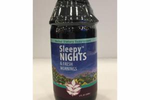 SLEEPY NIGHTS & FRESH MORNINGS HERBAL DIETARY SUPPLEMENT