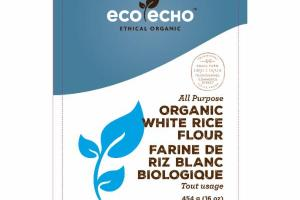 ALL PURPOSE ORGANIC WHITE RICE FLOUR